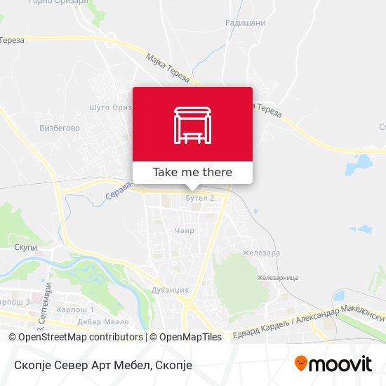 Скопје Север Арт Мебел map