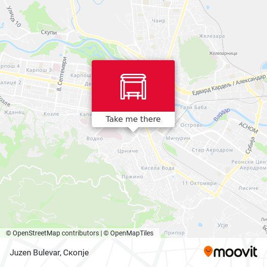 Juzen Bulevar map