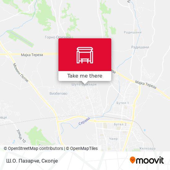 Ш.О. Пазарче map