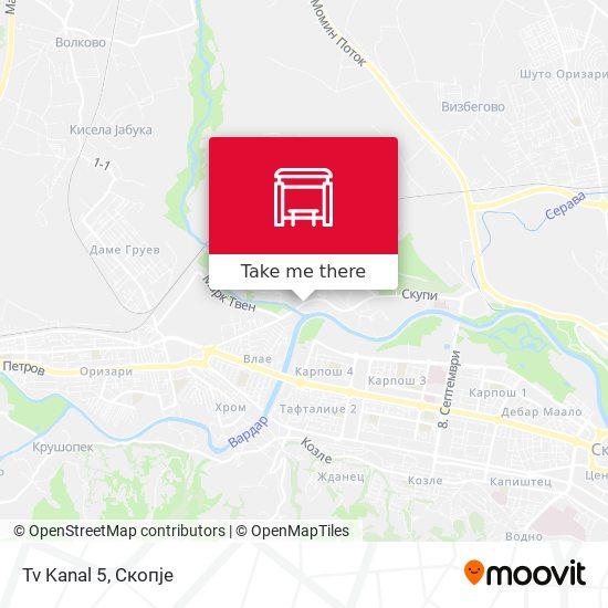 Tv Kanal 5 map