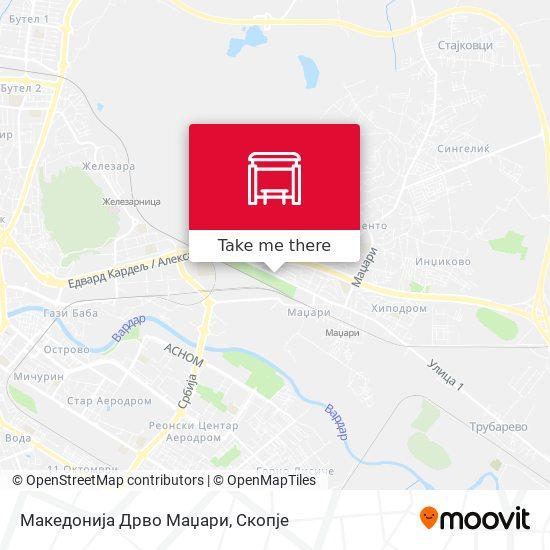 Македонија Дрво Маџари map