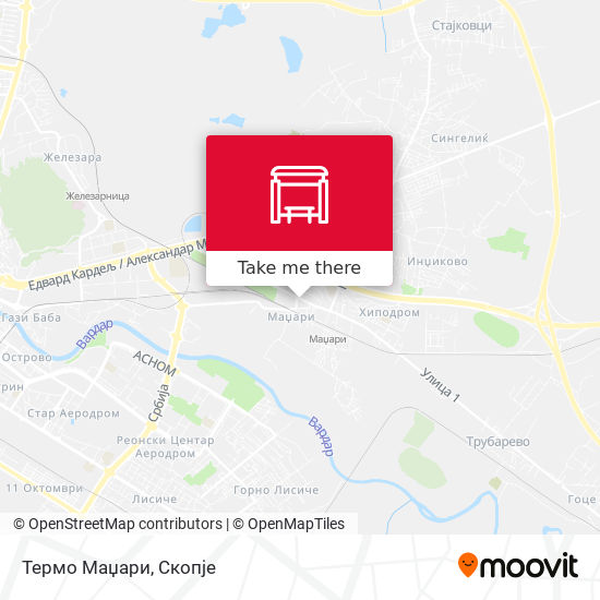 Термо Маџари map