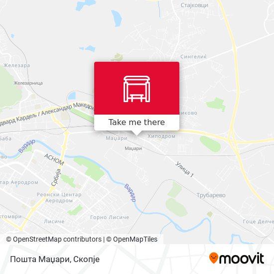 Пошта Маџари map