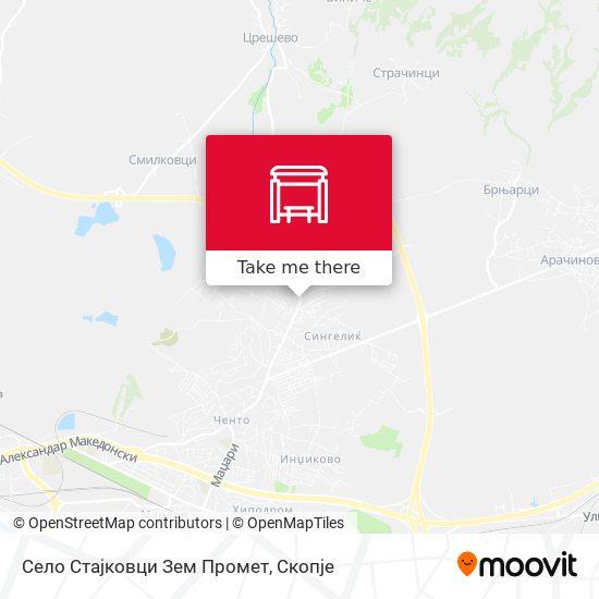 Село Стајковци Зем Промет map
