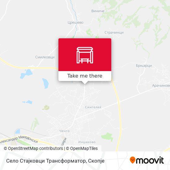 Село Стајковци Трансформатор map