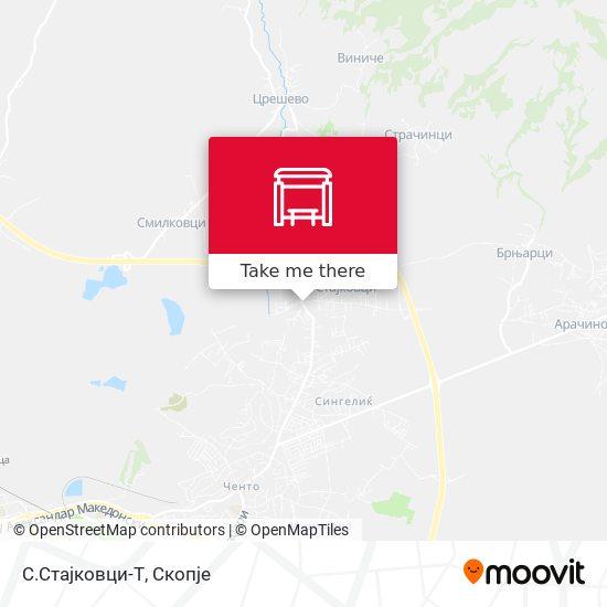 С.Стајковци-Т map