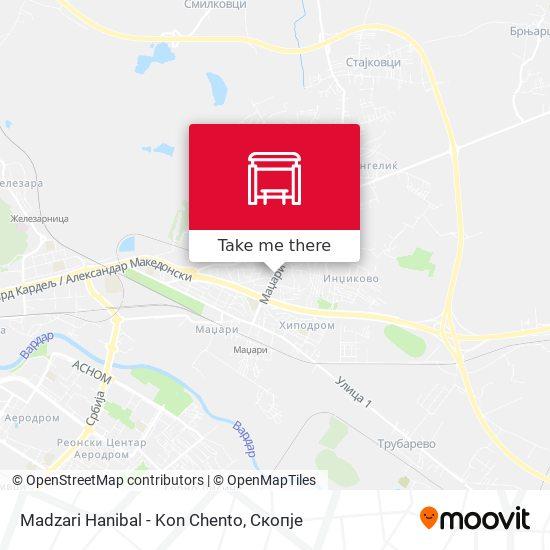 Madzari Hanibal - Kon Chento map
