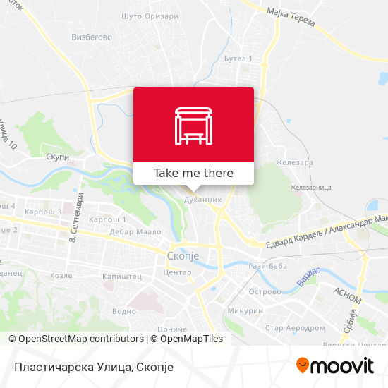 Пластичарска Улица map