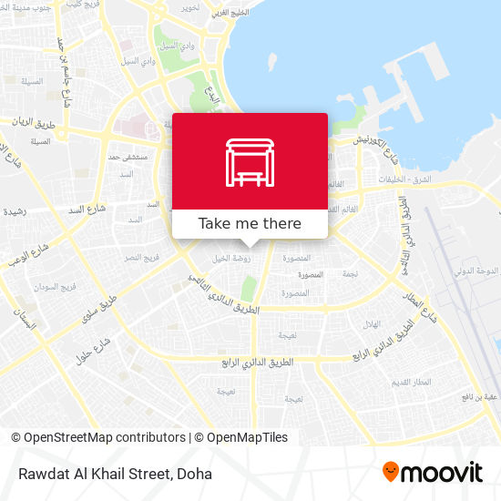 Rawdat Al Khail Street map