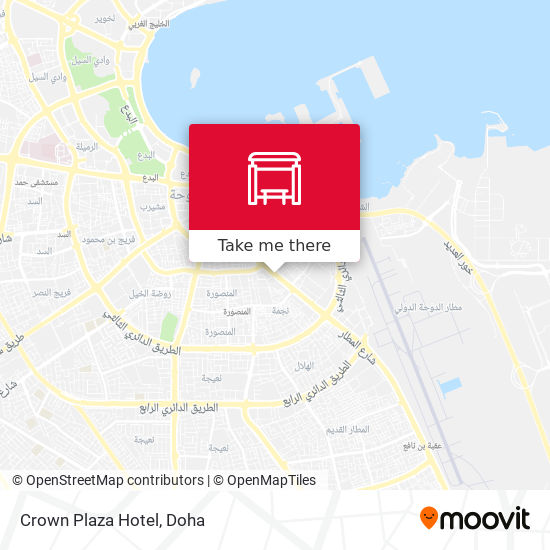 Crown Plaza Hotel map
