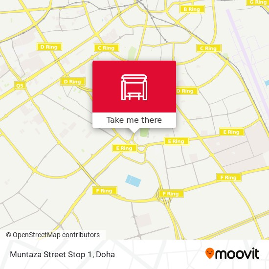 Muntaza Street Stop 1 map