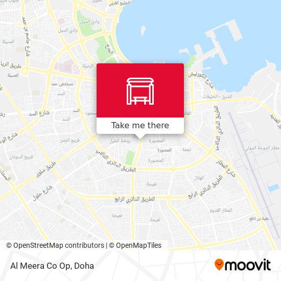 Al Meera Co Op map