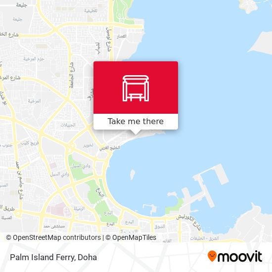 Palm Island Ferry map