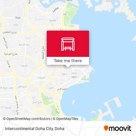 Intercontinental Doha City map