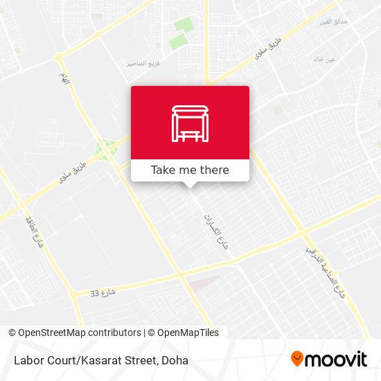 Labor Court/Kasarat Street map