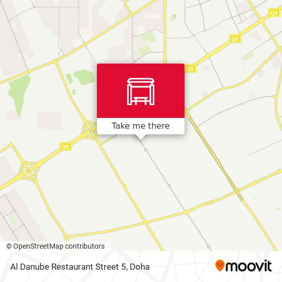 Al Danube Restaurant Street 5 map