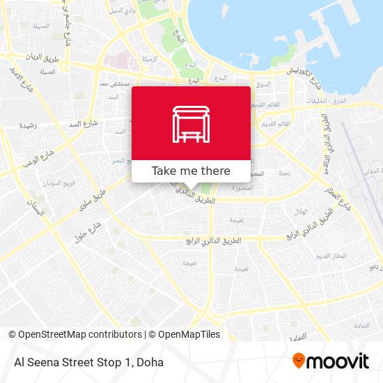Al Seena Street Stop 1 map