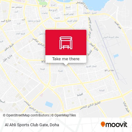 Al Ahli Sports Club Gate map
