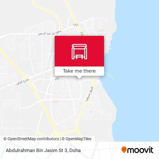 Abdulrahman Bin Jasim St 3 map