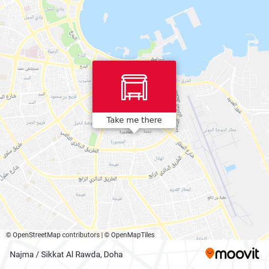 Najma / Sikkat Al Rawda map