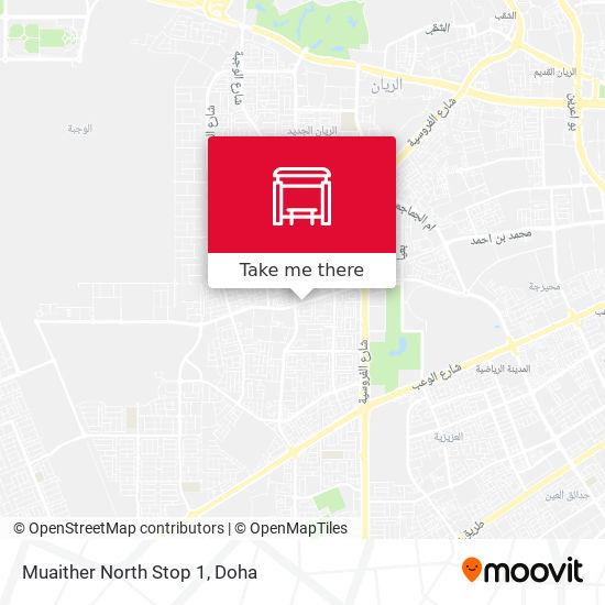 Muaither North Stop 1 map