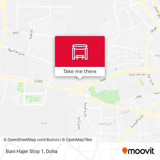 Bani Hajer Stop 1 map
