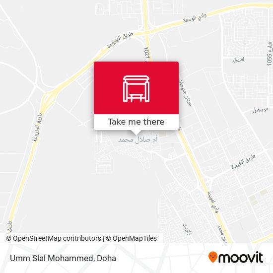 Umm Slal Mohammed map