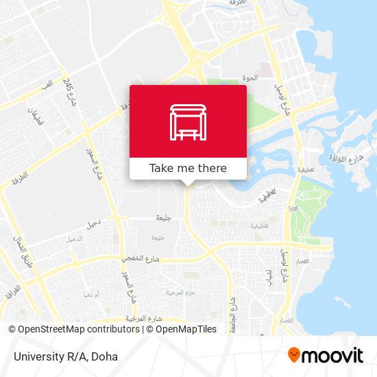 University R/A map