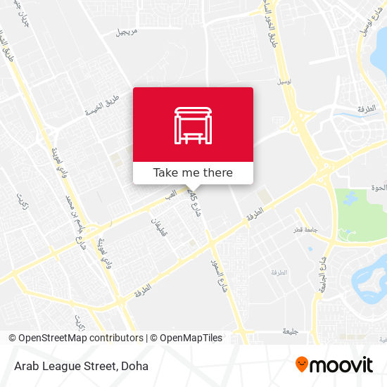 Arab League Street map