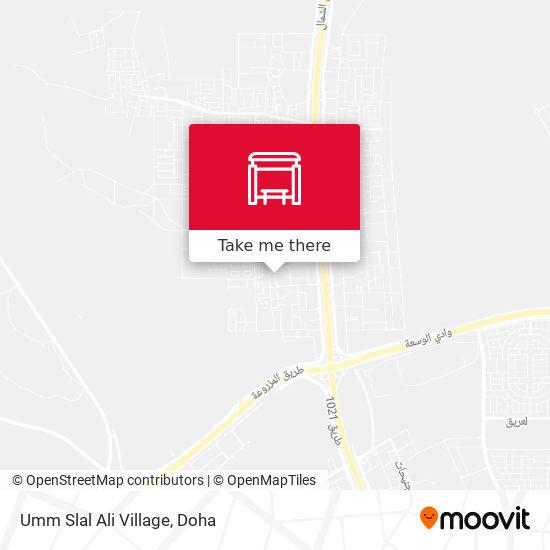 Umm Slal Ali Village map