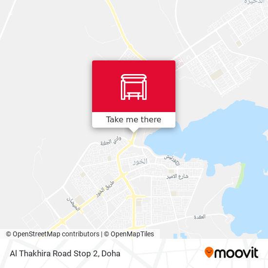 Al Thakhira Road Stop 2 map