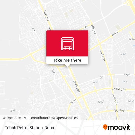 Tebah Petrol Station map