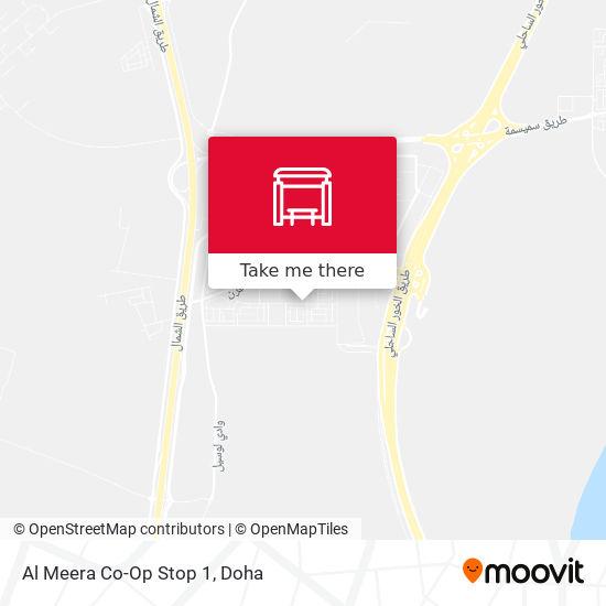 Al Meera Co-Op Stop 1 map
