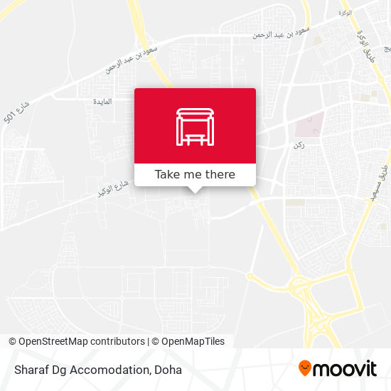Sharaf Dg Accomodation map