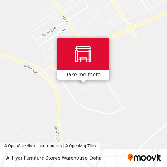 Al Hyar Furniture Stores Warehouse map
