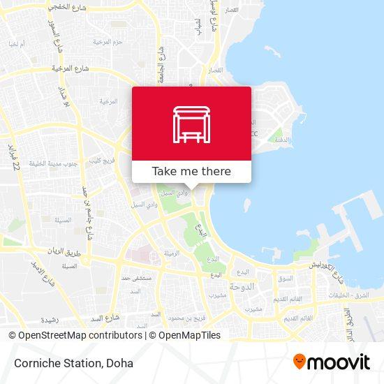 Corniche Station map