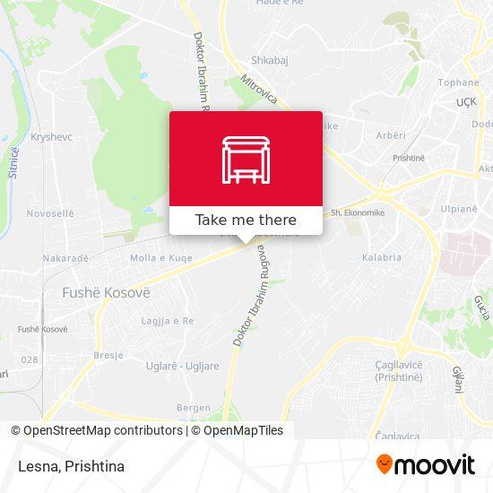 Lesna map