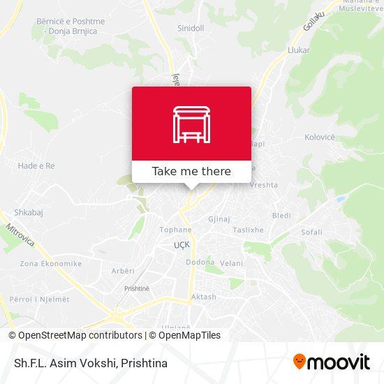 Sh.F.L. Asim Vokshi map