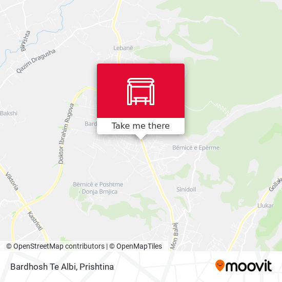 Bardhosh Te Albi map