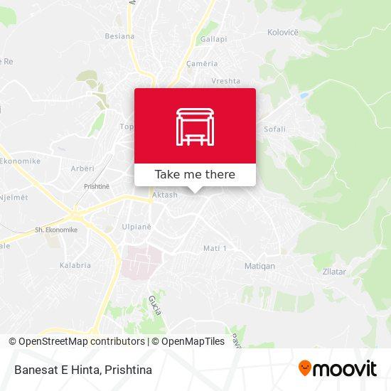 Banesat E Hinta map