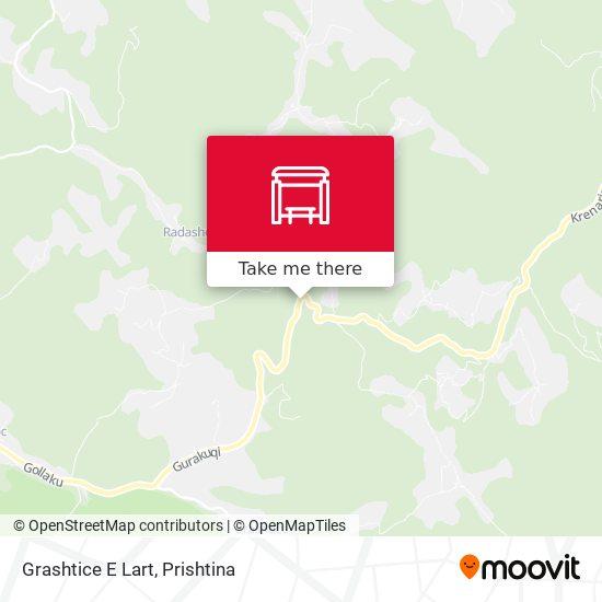 Grashtice E Lart map