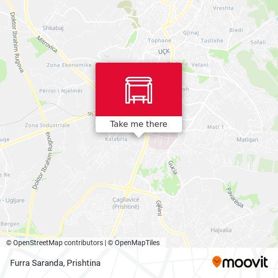 Furra Saranda map