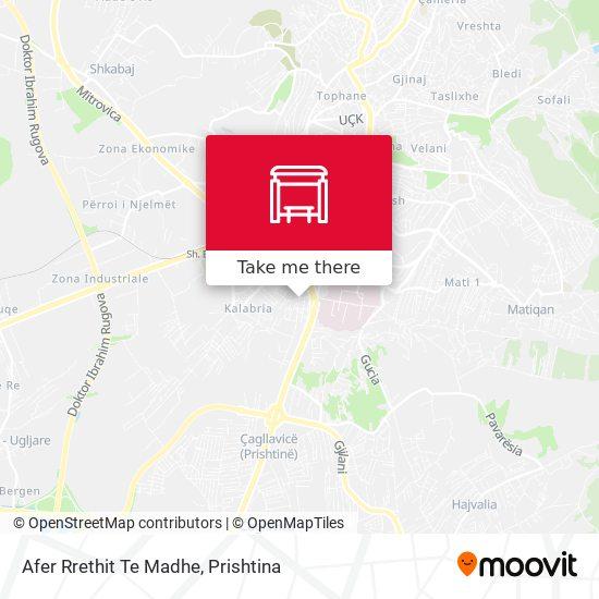 Afer Rrethit Te Madhe map