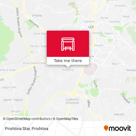 Prishtina Star map