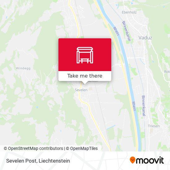 Sevelen Post map