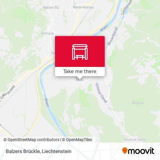 Balzers Brückle map