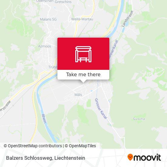 Balzers Schlossweg map