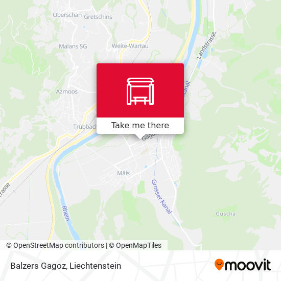 Balzers Gagoz map