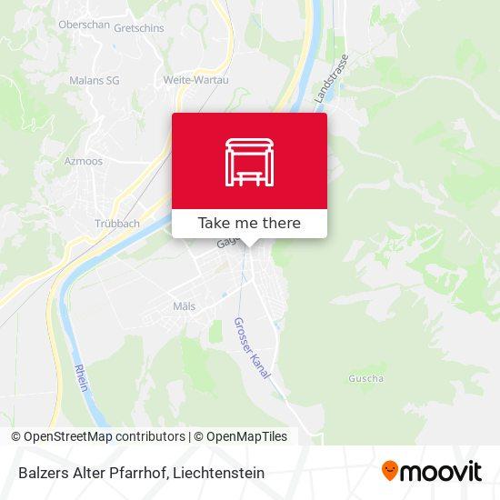 Balzers Alter Pfarrhof map