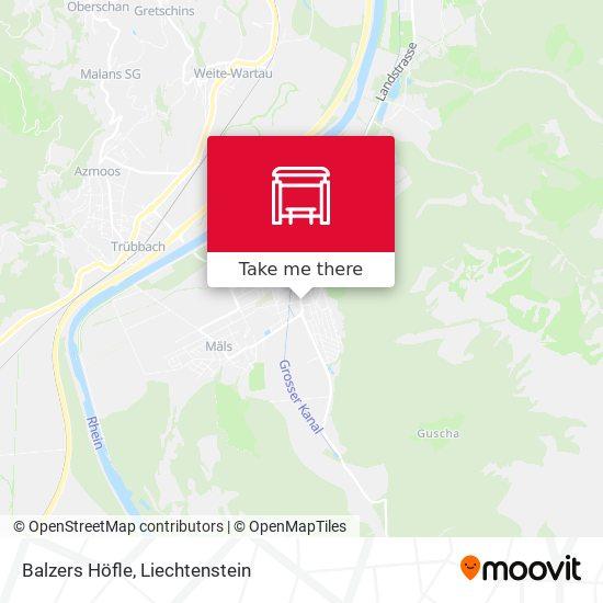 Balzers Höfle map